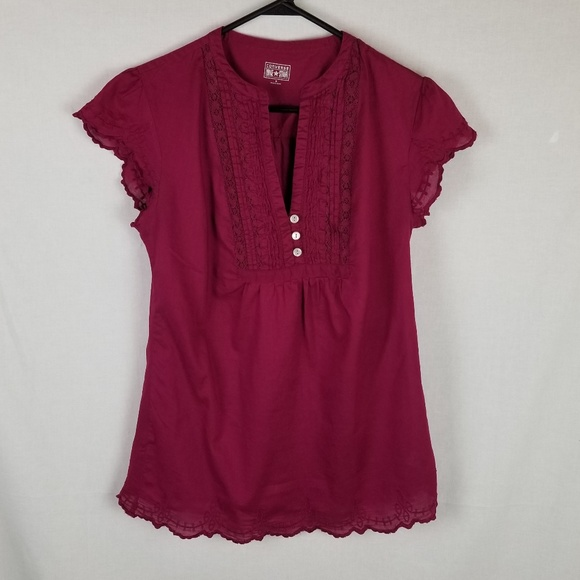 new collection finest selection free delivery Womens Converse One Star Maroon BOHO Blouse Small